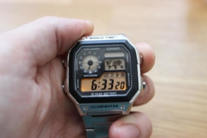 Casio AE 1200WHD Beleuchtung